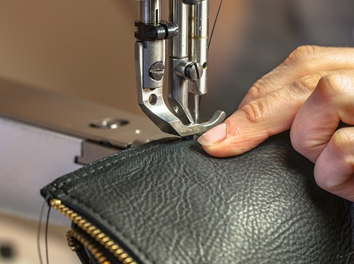 Leather components processing, destinated to a famous fashion brand
